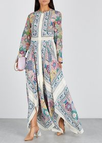 ALTUZARRA Tamourine printed silk dress ~ effortless and stylish summer event clothing