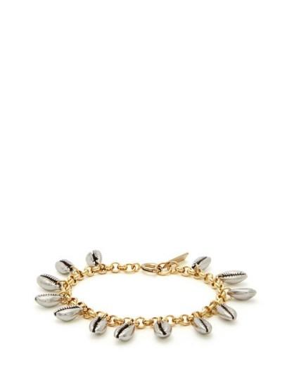 ISABEL MARANT Amer shell-charm chain bracelet ~ metallic-silver shells ~ ocean inspired charms