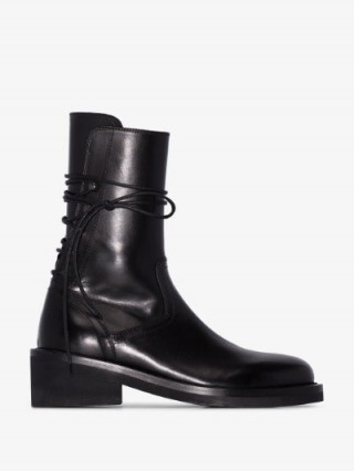 Ann Demeulemeester Lace-Up Ankle Boots in Black