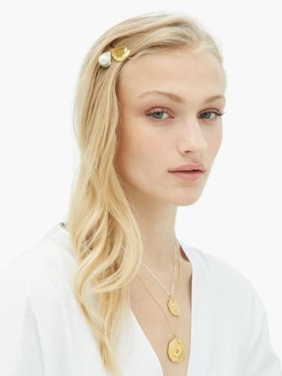 ALIGHIERI Apollo's Dance Baroque-pearl hair slide   luxe accessory - flipped