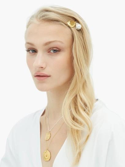 ALIGHIERI Apollo's Dance Baroque-pearl hair slide   luxe accessory