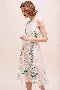 ATHROPOLOGIE Cosmo Embroidered-Floral Dress ~ embroidered dresses