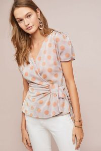 Eva Franco Sweetwater Top in Tangerine ~ summer wrap tops