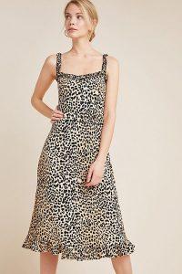 Faithfull Wild Cat Midi Dress Brown Motif ~ animal prints