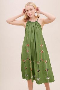 Corey Lynn Calter Cindy Embroidered Dress in Green | stylish and easy to wear summer frock | effortless style