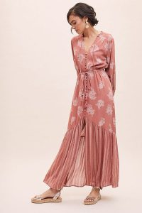 Lost + Wander Ginger Mae Maxi Dress in Mauve / summer occasion dresses