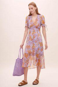 ASTR The Label Chandler Dress in Lilac / frill hem dresses