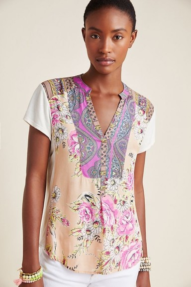 Tiny Edna Floral-Print Shirt in Pink Combo