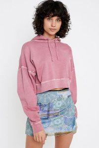 iets frans… Slouchy Crop Hoodie in Pink