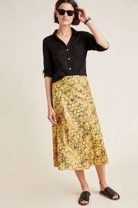 Current Air Harmony Metallic Midi Skirt | snake print skirts