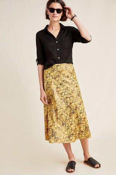 Current Air Harmony Metallic Midi Skirt | snake print skirts