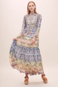 Bhanuni by Jyoti Joanie Embroidered-Embellished Maxi Dress | mixed print summer dresses