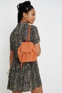 UO Orange Suede Mini Backpack | small backpacks