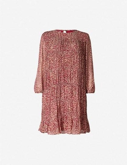 BA&SH Grace chiffon mini dress in rose ~ floaty dresses - flipped