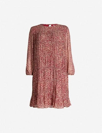 BA&SH Grace chiffon mini dress in rose ~ floaty dresses