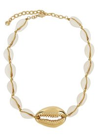 BAUBLEBAR Gold-plated shell necklace ~ inspired by the ocean