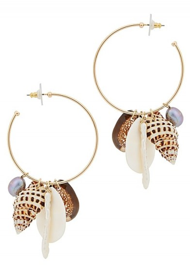 BAUBLEBAR Sardinia shell-embellished hoop earrings ~ sea inspired jewellery