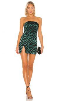 BEC&BRIDGE Discotheque Mini Dress Emerald Zebra