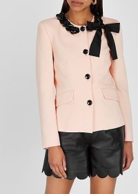 BOUTIQUE MOSCHINO Pink bow-embellished jacket | retro jackets