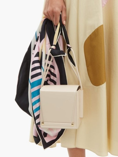 ROKSANDA Box scarf-strap cream leather cross-body bag