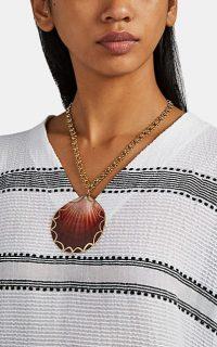 BRINKER & ELIZA Amalfi Necklace ~ large shell pendants