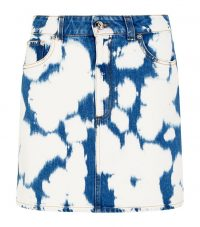 Burberry Bleach Denim Skirt in Blue | bleached mini