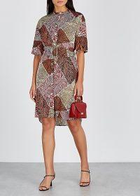 BY MALENE BIRGER Cebina printed satin shirt dress