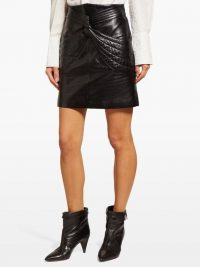 ISABEL MARANT Chaz quilted black-leather mini skirt