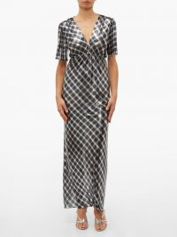 PACO RABANNE Checked chainmail maxi dress ~ long metallic dresses