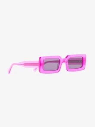 Chimi Pink Rectangle Frame Sunglasses   retro framed eyewear - flipped