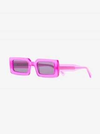 Chimi Pink Rectangle Frame Sunglasses   retro framed eyewear