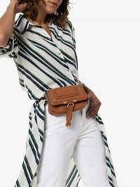 Chloé Marcie Belt Bag in Brown Grained Leather