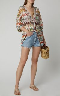 Missoni Crochet-Knit Wool Cardigan ~ muticolored cardigans