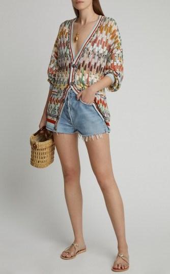 Missoni Crochet-Knit Wool Cardigan ~ muticolored cardigans - flipped