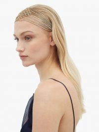 ROSANTICA BY MICHELA PANERO Crystal-embellished chain-drop headband | vintage style headbands