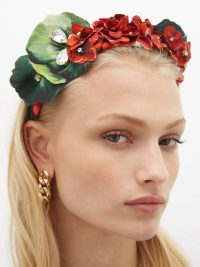 DOLCE & GABBANA Crystal-embellished floral headband | pretty headbands | hair accessory