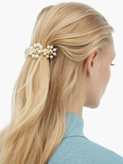 ROSANTICA BY MICHELA PANERO Daisy faux-pearl embellished hair clip | floral hair accessory - flipped