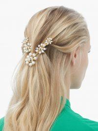 ROSANTICA BY MICHELA PANERO Daisy faux-pearl V hair clip