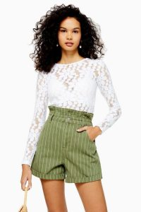 TOPSHOP Daisy Lace Long Sleeve Top White