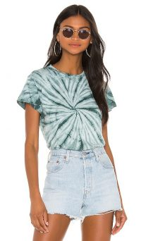 DAYDREAMER X REVOLVE Tie Dye Tee in Pine / distressed t-shirt