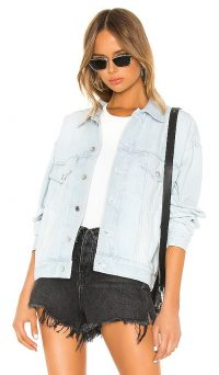 DENIM x ALEXANDER WANG Game Jacket Pale Blue