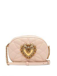 DOLCE & GABBANA Devotion pink matelassé-leather cross-body bag ~ beautiful Italian crossbody