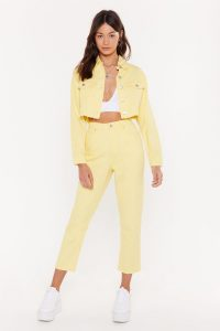 Nasty Gal Don't Tell My Mom Denim Jeans in Lemon | yellow denim