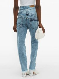 NATASHA ZINKO Double-layered frayed cotton jeans ~ contemporary denim designs