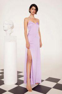 Nasty Gal x EMRATA Cross It off the List Satin Maxi Dress in Lilac | long slip dresses | Emily Ratajkowski fashion