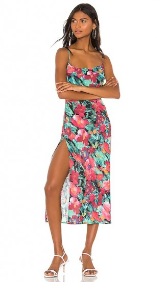 Endless Summer Madison Midi Dress in Vintage Floral