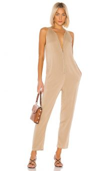 Enza Costa Sleeveless Front Zip Jumpsuit – casual luxe