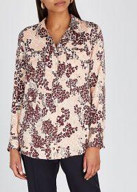 EQUIPMENT Slim Signature leopard-print shirt in burgundy and pink