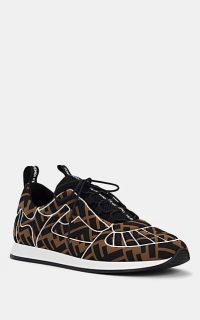 FENDI Women's Neoprene & Mesh Sneakers ~ brown designer trainers