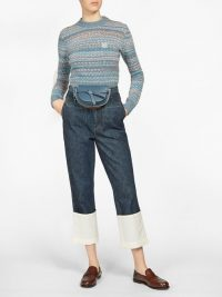 LOEWE Fisherman turn-up cuff jeans ~ wide white turn-ups